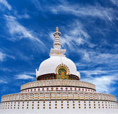 Peace Pagoda in Leh, Jammu and Kashmir, India Royalty Free Stock Photo
