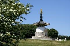 Peace pagoda milton keynes buckinghamshire uk. Ornate peace pagoda in willen park milton keynes buckinghamshire england Stock Photos