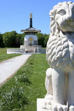 Peace pagoda milton keynes england Royalty Free Stock Photo