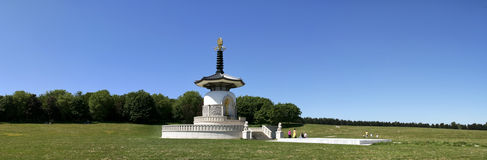 Peace pagoda panorama milton keynes park Royalty Free Stock Photography