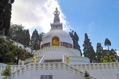Peace pagoda royalty free stock photo