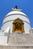 The peace pagoda. A top the hill lies the world peace pagoda Stock Image