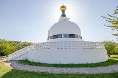 The Peace Pagoda on sunny spring day in Vienna, Austria Stock Images