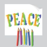 Peace paint Royalty Free Stock Image