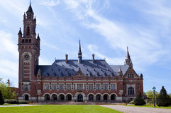 Peace Palace. Exterior view of Peace Palace, International Court of Justice, The Hague, Netherlands royalty free stock photo