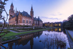 Peace Palace at Blue hours Stock Image