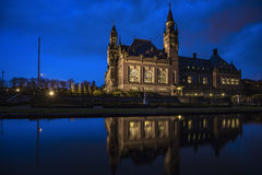 Peace Palace at Blue hours Stock Photography