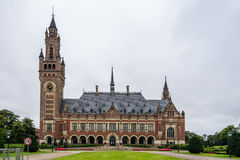 The Peace Palace a cloudy day of summer Royalty Free Stock Photo