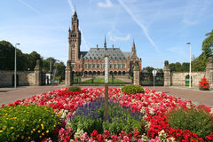 Peace Palace with Flowers Stock Images