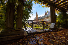 Peace Palace garden in Autumn Royalty Free Stock Image