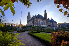 Peace Palace garden in Autumn Royalty Free Stock Photos