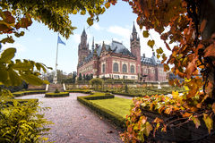 Peace Palace garden in Autumn Stock Photos