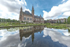 Peace Palace garden. Garden of the Peace Palace Seat of the International Court of Justice, principal organ of the United Nations located in The Hague Stock Image