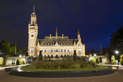 The Peace Palace in Hague Stock Photo