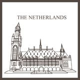 The Peace Palace of The Hague royalty free illustration