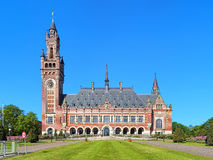 The Peace Palace in The Hague, Netherlands. It houses the International Court of Justice of UN, the Permanent Court of Arbitration and the Hague Academy of Stock Image