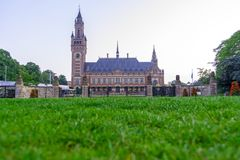 Peace palace in Hague, Netherlands
