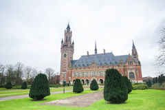 Peace Palace in The Hague, the Netherlands. The Peace Palace is an international law building in The Hague, the Netherlands. It houses the International Court of Royalty Free Stock Photography