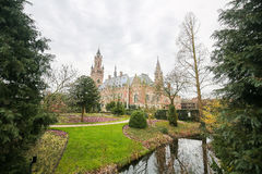 Peace Palace in The Hague, the Netherlands. The Peace Palace is an international law building in The Hague, the Netherlands. It houses the International Court of Stock Image