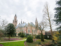 Peace Palace in The Hague, the Netherlands. The Peace Palace is an international law building in The Hague, the Netherlands. It houses the International Court of Royalty Free Stock Images