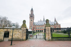 Peace Palace in The Hague, the Netherlands. The Peace Palace is an international law building in The Hague, the Netherlands. It houses the International Court of Stock Images