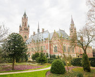 Peace Palace in The Hague, the Netherlands. The Peace Palace is an international law building in The Hague, the Netherlands. It houses the International Court of Stock Photo