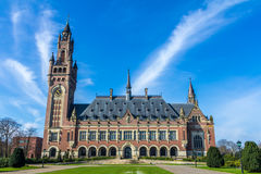 Peace Palace in The Hague Stock Images