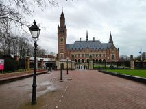 Peace Palace of The Hague with space and lantern