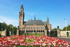 Peace Palace International Court of Justice ICJ Royalty Free Stock Photo
