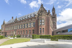 Peace Palace Library. Peace Palace Backyard and the interconnected library reading room from the International law academy building, The Hague, Netherlands Stock Image