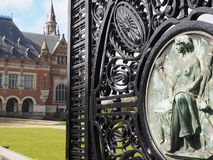 The Peace palace main wrought iron gate Stock Image