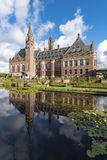 Peace Palace mirror. Pond and mirror of the Peace Palace Seat of the International Court of Justice, principal organ of the United Nations located in The Hague Royalty Free Stock Images