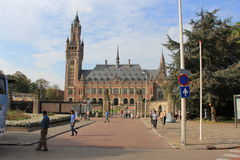 The Peace Palace situated in The Hague,. It is often called the seat of international law because it houses the International Court of Justice (which is the Royalty Free Stock Photos