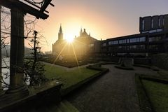Peace Palace at the sunset Royalty Free Stock Images