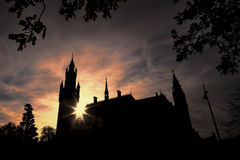 Peace Palace at the sunset Stock Photo