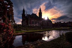 Peace Palace at the sunset Stock Photography
