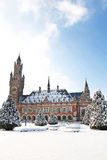 Peace Palace under the Snow, Vredespaleis Royalty Free Stock Images