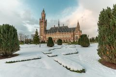 Free Peace Palace, Vredespaleis, Under The Snow Royalty Free Stock Photography - 139761757