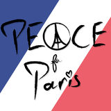 Peace for Paris Vector Illustration Royalty Free Stock Photos