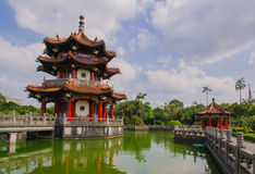 228 peace park in Taipei, Taiwan. Traditional building in a park in Taipei, Taiwan stock photos