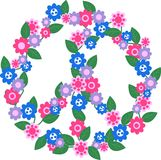 peace pattern royalty free stock image