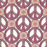 Peace pattern. Creative doodle background. Vector Royalty Free Stock Images