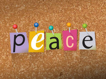 Peace Pinned Paper Concept Illustration Royalty Free Stock Photos