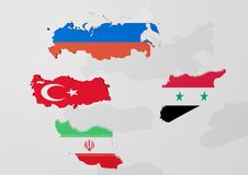 A peace plan for Syria, from Turkey, Russia and Iran Stock Image