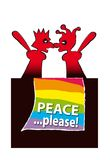 Peace please stock images