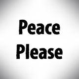 Peace Please campaign Royalty Free Stock Photography