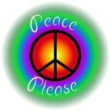 Peace please stock photo