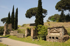 Peace of pompeii. Necropolis area of Pompeii in summer day, Italy Stock Photo