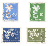Peace post stamps from Germany Stock Photo