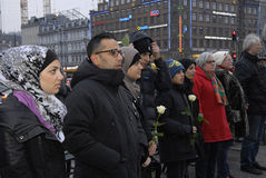 PEACE PROTEST AT COPENHAGEN CITY HALL Royalty Free Stock Photo